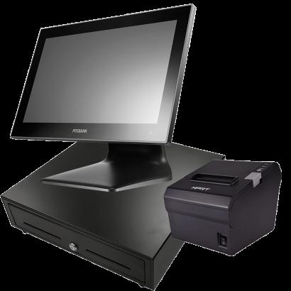 "POS BUNDLE PACK POSBANK APEXA GW1560 J1900 15,6"" (BLACK)"